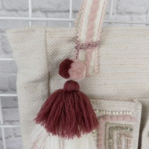 America & Beyond Bags - Peach Parfait Two Pocket Fairtrade Tote Bag